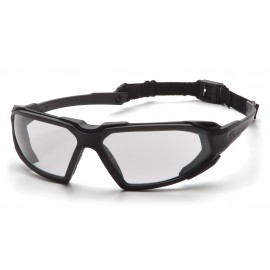 Pyramex Highlander Black Frame/Clear Anti-Fog Lens