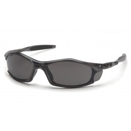 Pyramex Safety - Solara - Trans Gray Frame/Gray Lens Polycarbonate Safety Glasses - 12 / BX