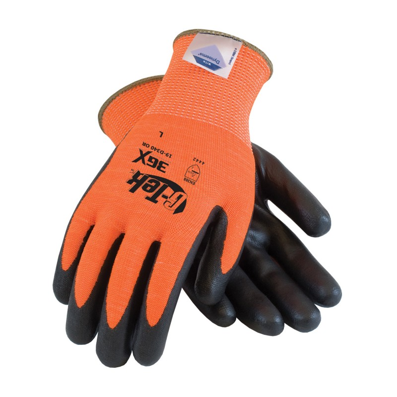 G-Tek 3GX Seamless Knit Dyneema Diamond / Spandex Glove with Nitrile Coated Foam Grip on Palm & Fingers