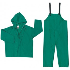 MCR Dominator 2 Piece Rain Suit PVC Polyester Green Color (1 Each)