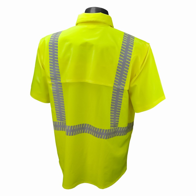 Radians Radwear SW11 TYPE R CLASS 2 STRETCH RIPSTOP WIND SHIRT Green Color - 1 EA