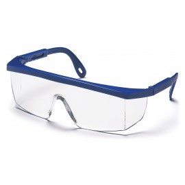 Pyramex  Integra  Blue Frame/Clear Lens  Safety Glasses  12/BX