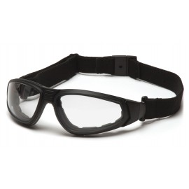 Pyramex Safety - XSG - Black Frame/Clear Anti-Fog Lens Polycarbonate Safety Glasses - 12 / BX