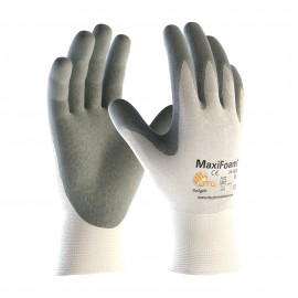 PIP ATG 34-800 MaxiFoam Premium Gloves - Nitrile Foam - White Color (1 DZ)