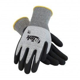 PIP 16-350/S G-Tek Seamless Knit PolyKor Blended Glove with Nitrile Coated MicroSurface Grip on Palm & Fingers Small 6 DZ