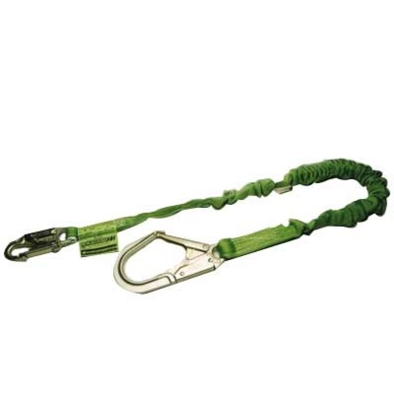 Miller Manyard II Stretchable Shock-Absorbing Lanyard with Rebar Hook