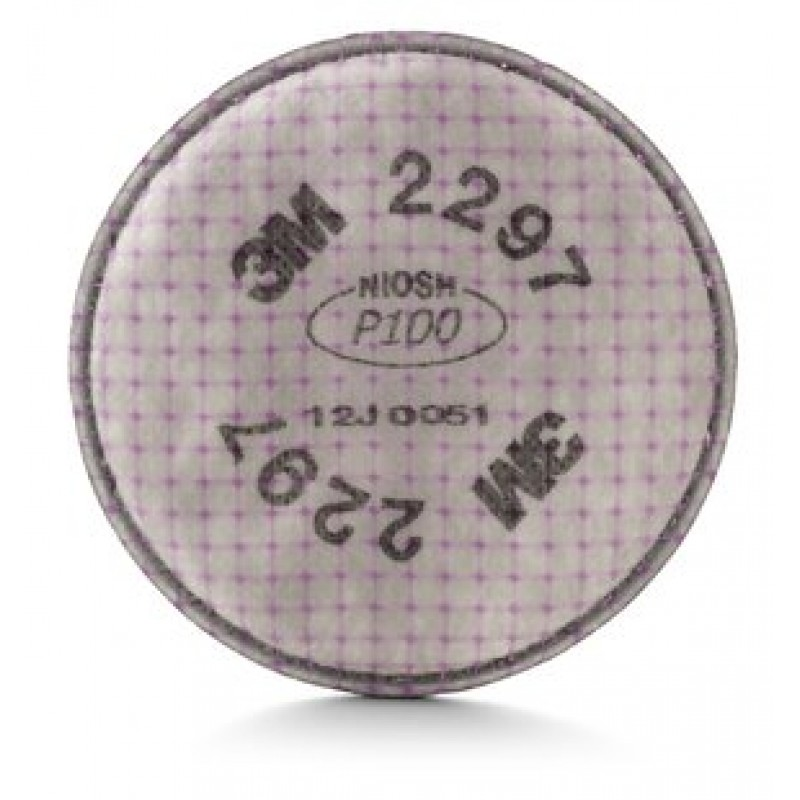 3M™ 2297 P100 Advanced Particulate Filter with Nuisance Level Organic Vapor Relief (1 Pair)
