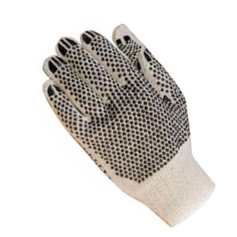 Double Sided PVC Dotted Knit Gloves