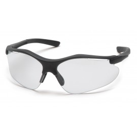 Pyramex  Fortress  Black Frame/Clear AntiFog Lens  Safety Glasses  12/BX