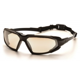 Pyramex  Highlander  Black Frame/Indoor/Outdoor Mirror AntiFog Lens  Safety Glasses  12/BX