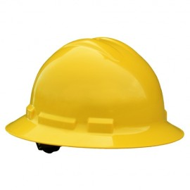 Radians Quartz 6 Point Ratchet Suspension Full Brim Hard Hats  Yellow Color  (1 Each)
