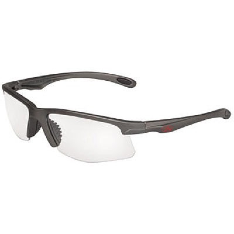 OCC701 Safety Glasses with Metalik Gun Metal Gray Temples and Clear Anti-Fog Lens