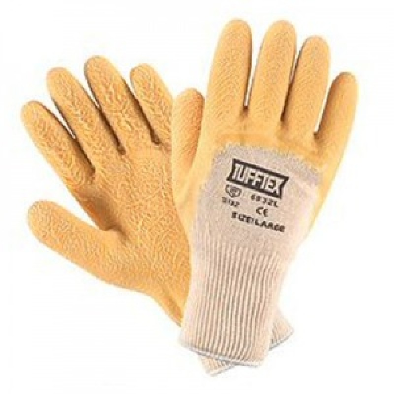 Palm Coated Rubber Textured Knitwrist Glove
