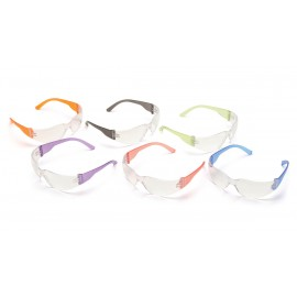 Pyramex Safety - Mini Intruder - Multi Color Frames/Clear-Hardcoated Lens Polycarbonate Safety Glasses - 12 / BX