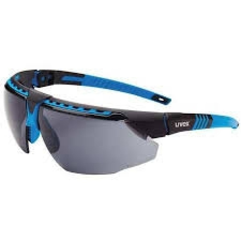 Honeywell S2871HS Uvex Avatar Blue/Black Frame Gray Lens Hydroshield Anti-Fog Coating 10/Box
