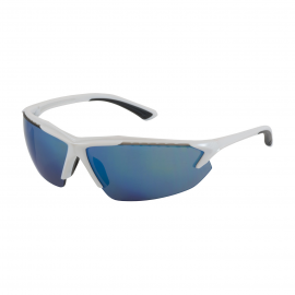 PIP Bouton Blizzard  Semi-Rimless Safety Glasses with White Frame, Blue Mirror Lens and Anti-Scratch Coating 12/Box