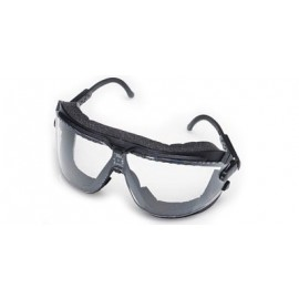 3M™ Lexa™ Dust GogglesGear™ Safety Goggles 16615-00000-10 Clear Lens, Black Frame, Medium