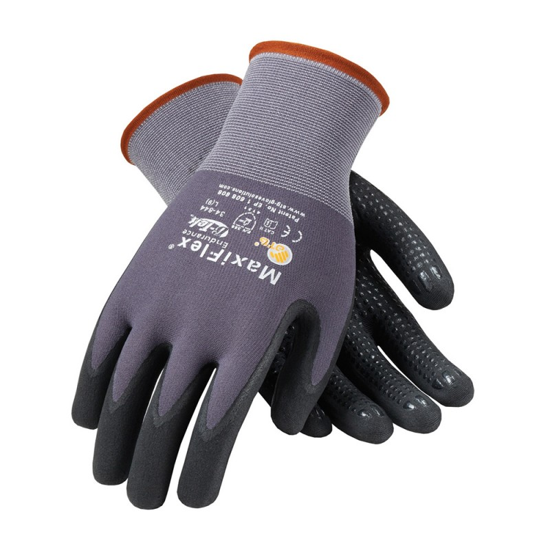 PIP 34-844/XL ATG Seamless Knit Nylon Glove with Nitrile Coated MicroFoam Grip on Palm & Fingers Micro Dot Palm XL 12 DZ