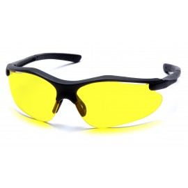 Pyramex  Fortress  Black Frame/Amber Lens  Safety Glasses  12/BX