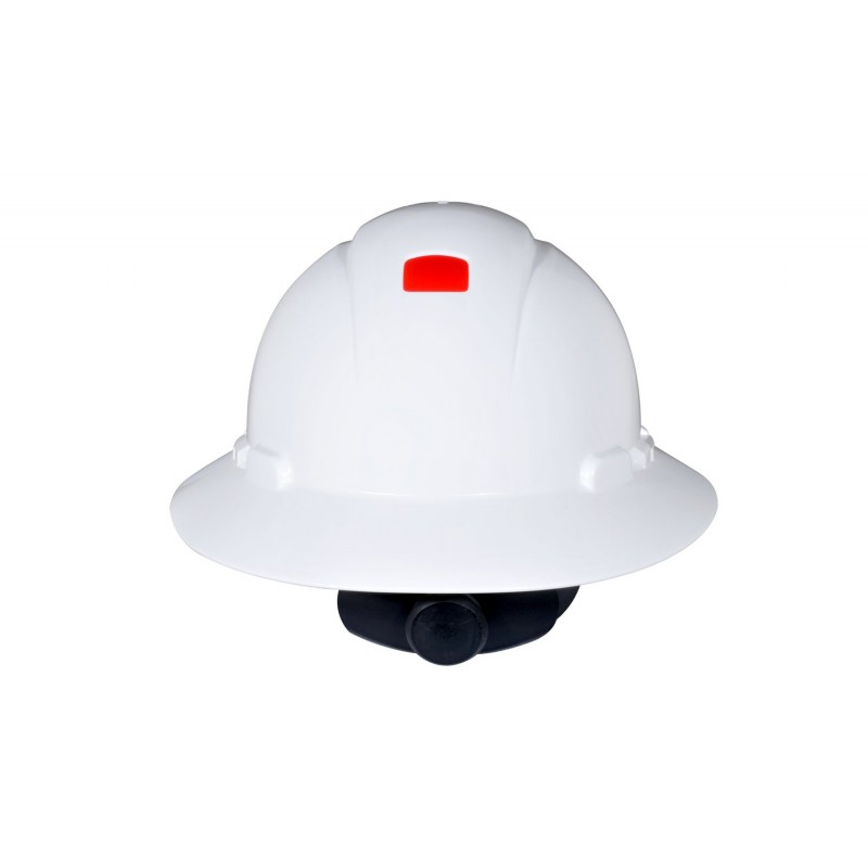 3M™ Full Brim Hard Hat H-801R-UV, White 4-Point Ratchet Suspension, with Uvicator (Case of 20)