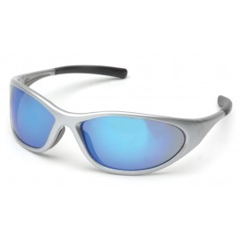 Pyramex Safety - Zone II - Silver Frame/Ice Blue Mirror Lens Polycarbonate Safety Glasses - 12 / BX