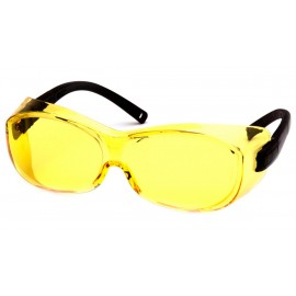Pyramex  OTS  Black Frame/Amber Lens  Safety Glasses  12/BX