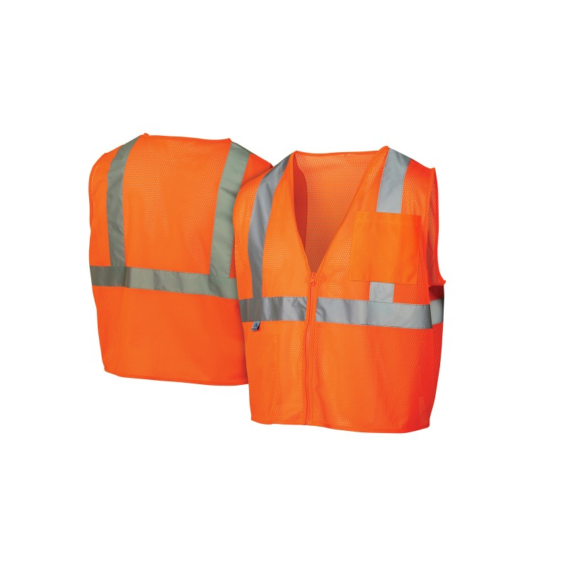 Pyramex RVZ21 Series Type R Class 2 Hi-Vis Safety Vests 1/Ea