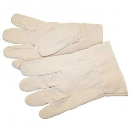 Mens Cotton Canvas Gloves with Band Top