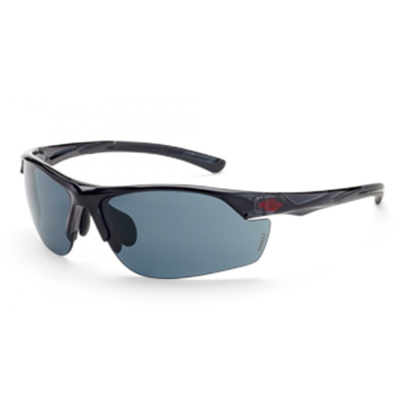 Radians Crossfire AR3 Safety Glasses - Crystal Black Frame -  Smoke Lens  1 Pair