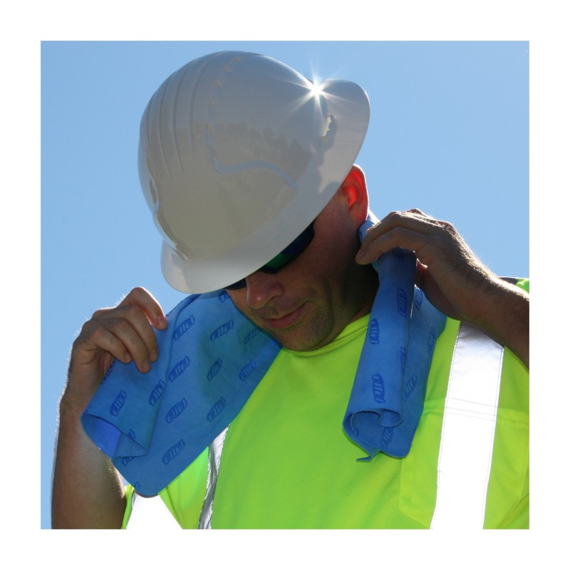 PIP Evaporative Cooling Towel, EZ-Cool Blue Color 1 Each