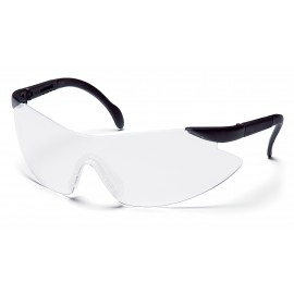 Pyramex  Legacy  Black Temples/Clear Lens  Safety Glasses  12/BX