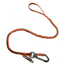 Ergodyne 19809 Squids 3109F(x) Double-Locking Single Carabiner Tool Lanyard with Swivel - 25lbs