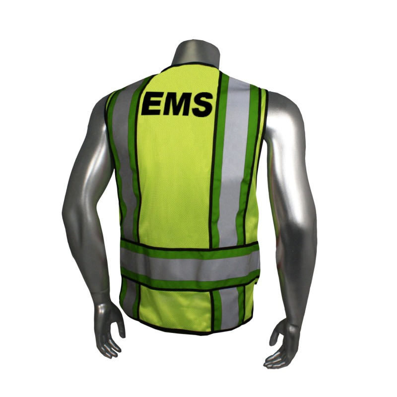 Radians Radwear EMS Public Safety Vests Hi-Vis Green Color- 1 Each