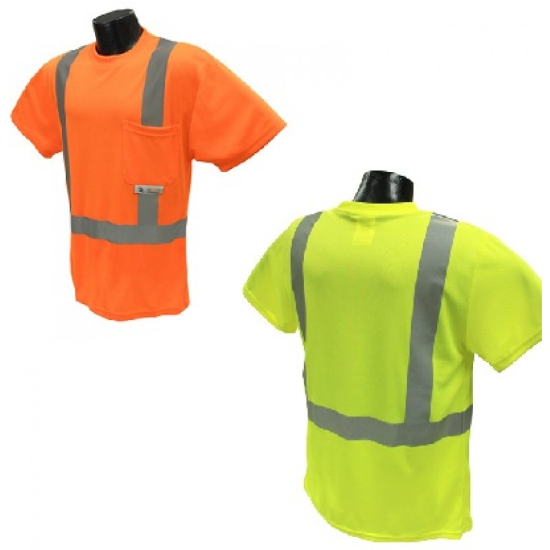Radians Radwear ST11 Class 2 Hi-Viz Safety Moisture Wicking T-Shirt 1/EA