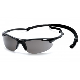 Pyramex  Avante  Black Frame/Gray Lens with Cord  Safety Glasses  12/BX