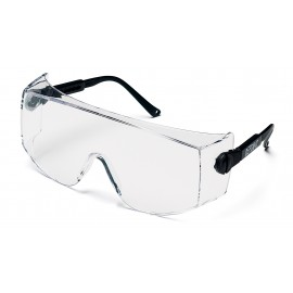 Pyramex  Defiant  Black Temples/Clear LensOver Prescription  Jumbo  Safety Glasses  12/BX