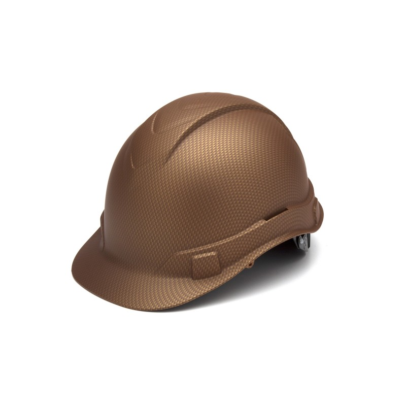 Pyramex Ridgeline Cap Style Hard Hat 4-Point Standard Ratchet Copper Color - 16 per Case