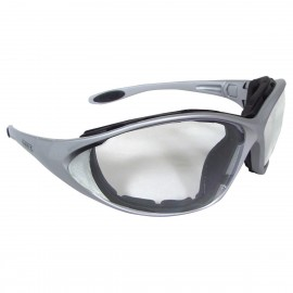 DEWALT Framework- Clear Anti-Fog Lens Safety Glasses Full Frame Style Silver Color - 12 Pairs / Box
