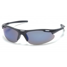 Pyramex  Avante  Black Frame/Blue Mirror Lens  Safety Glasses  12/BX