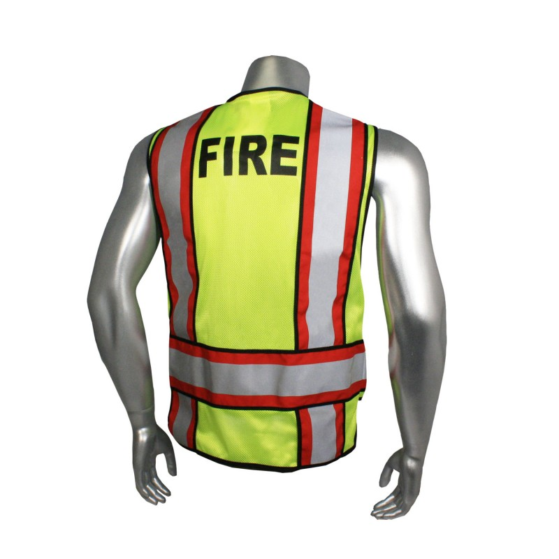 Radians Radwear Fire Safety Vests Hi-Vis Green Color  - 1 Each