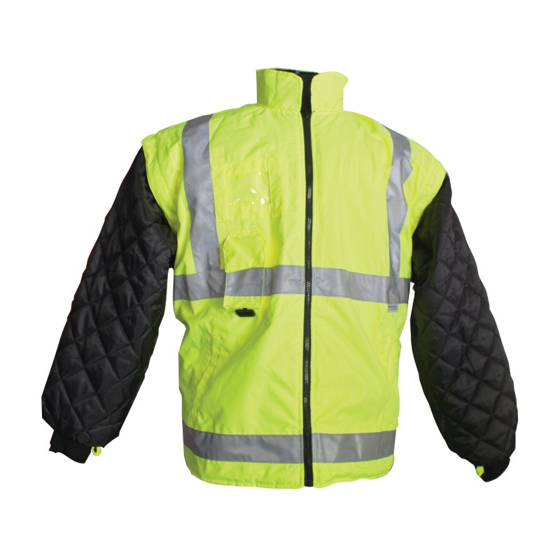 PIP ANSI TYPE R CLASS 3 ALL CONDITIONS 7 IN 1 COAT  CLASS 2 INNER JACKET AND VEST COMBINATION Yellow  1 EA