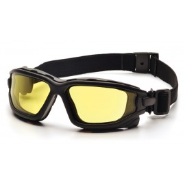 Pyramex  IForce  Black StrapTemples/Amber AntiFog Lens  Safety Glasses  12/BX