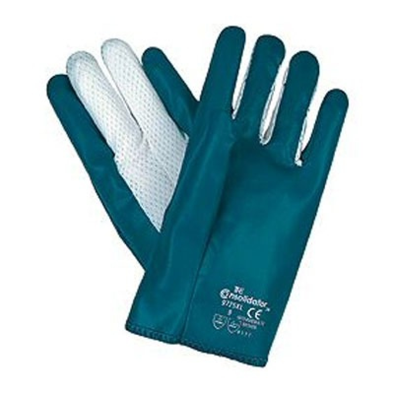 Nitrile Cut and Sewn Glove with Nylon Vented Back