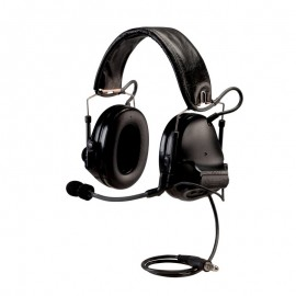 Peltor SWAT-TAC ACH ARC Communication Headset, Dual Comm, Single Downlead Split Audio - BLACK