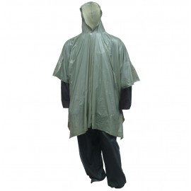 Tingley P68808.EA Poncho Oive Drab Attached Hood Side Snaps