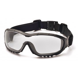 Pyramex  V3G  Black Strap/Temples/Clear Anti Fog Lens Polycarbonate Safety Glasses  12 / BX