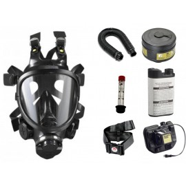 CBRN Facepiece Powered Air Purifying Respirator System - with Lithium Battery