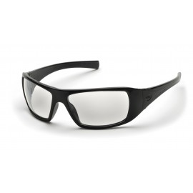 Pyramex  Goliath  Black Frame/Clear AntiFog Lens  Safety Glasses  12/BX