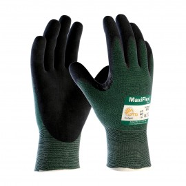 PIP ATG 34-8743 MaxiFlex Cut Gloves - ANSI A2 EN 3 - Nitrile Micro-Foam - Green Color (1 PR)