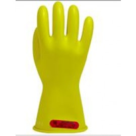 Yellow Class 0 Insulating Rubber Gloves